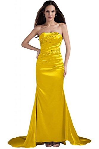 Sunvary elegante da abiti sera cerimonia Oro sirena perline con per spalline da o senza rrZdwz