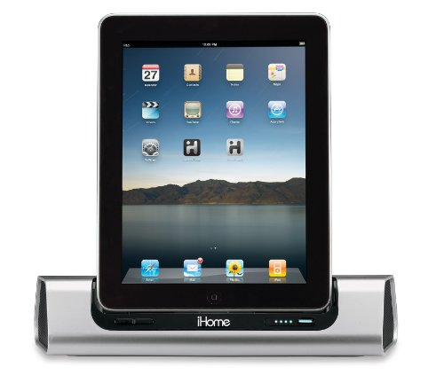iHome iD9 App-Friendly 30-Pin iPod/iPhone/iPad Speaker Dock (Not Compatible w/ iPhone 5/6 or any Lightning Compatible Models) (Discontinued by Manufacturer) by Sound Design