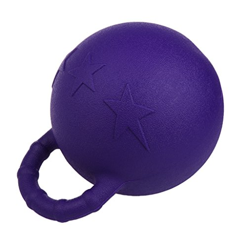 Kesoto 2Pcs Pony Bounce Jolly Ball Stable Field Toy Anti-Burst Horse Soccer Balls, Green and Purple by Kesoto (Image #2)