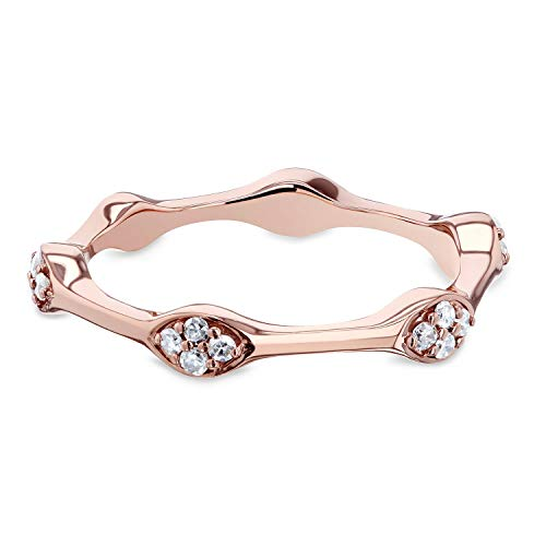 Stackable Diamond Ring 1/6 CTW in 10k Rose Gold, 8 ()