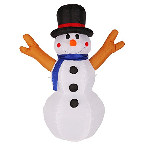 Fashionlite 4 Feet Christmas Xmas Inflatable Snowman Lighted Blow Up Yard  Party Decoration INBLE002