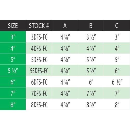 DuraVent 6DFS-FC 6'' Inner Diameter - DuraFlex SS Flexible Liner Chimney Pipe - S, Stainless Steel