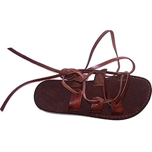 fc81458034f3 Genuine Leather Suede Bottom Biblical Sandals (Jesus) Suede V - Holy Land  Market Camel