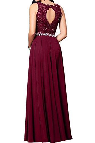 Toscana sposa romantica Nuovo Pizzo vino rosso pietra Chiffon a linea di sera vestiti da pavimento lungo Party vestiti prom abiti blu navy 2 mesi