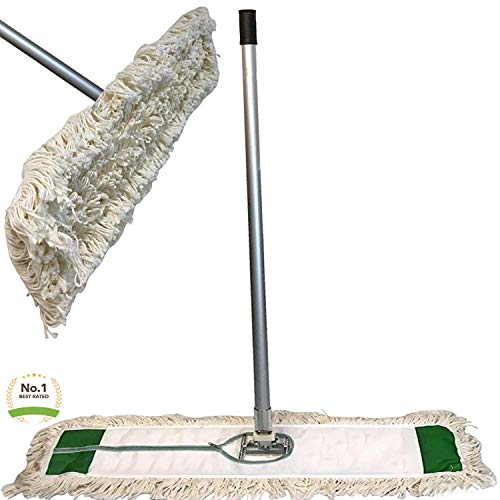 Cedar Cotton Mop - Industrial | Commercial Strength Performance Cotton Dust Mop Broom 60