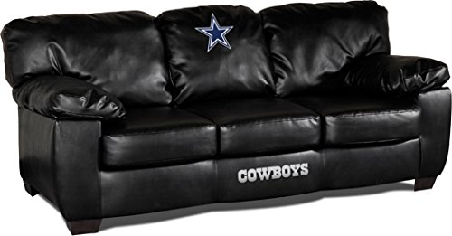 (Imperial Officially Licensed NFL Furniture: Classic Leather Sofa/Couch, Dallas Cowboys)