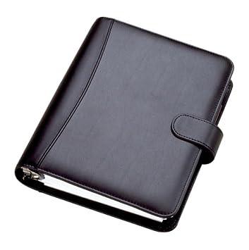 Collins DK2999 Chatsworth - Agenda con anillas de bolsillo, año 2014 (cuero sintético, en inglés), color negro