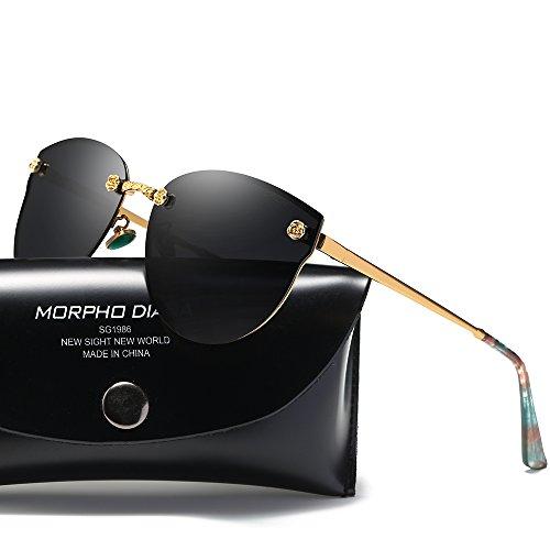 Morpho Diana Polarized Sunglasses for Men and Women (black, - Best Sunglasses Inexpensive Polarized