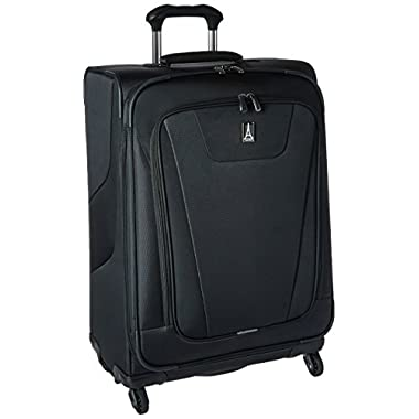 Travelpro Maxlite 4 Expandable 25 Inch Spinner Suitcase, Black