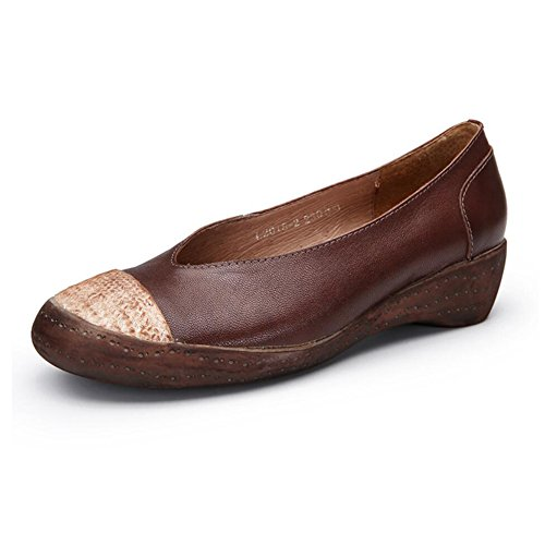 Loafers Xue farge Sko Fest Pustende Kvinners Størrelse Kontor Høst Og Kvelden Slip Kjøregang Skinn Vår B Stil ons Nasjonal 37 B rFFXwAq