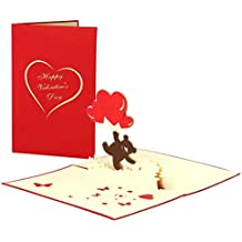 Bear Love and Romance Greeting Card For Your Boyfriend or Girlfriend, 3D Pop Up Card for Valentine's Day
