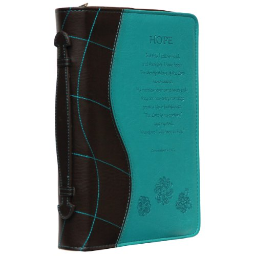 """Turquoise """"Hope"""" Bible / Book Cover - Lamentations 3:21-24 (Large) from Christian Art Gifts"""