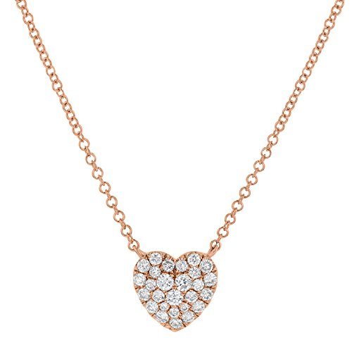 Olivia Paris 14k Rose Gold Diamond Heart Layer Necklace (1/4 cttw, H-I, I1) 16-18