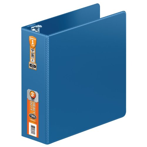 - Wilson Jones Heavy Duty Round Ring Binder with Extra Durable Hinge, 3-Inch, PC Blue (W364-49-7462)