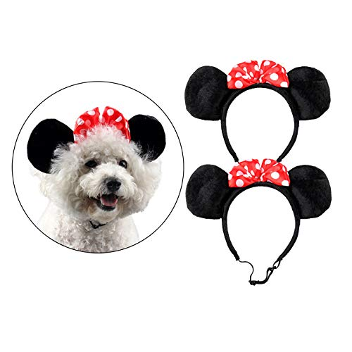 Alfie Pet - Percy 2-Piece Set Minnie Hat Band for Halloween or Special Events (for Small Dogs & Cats)]()