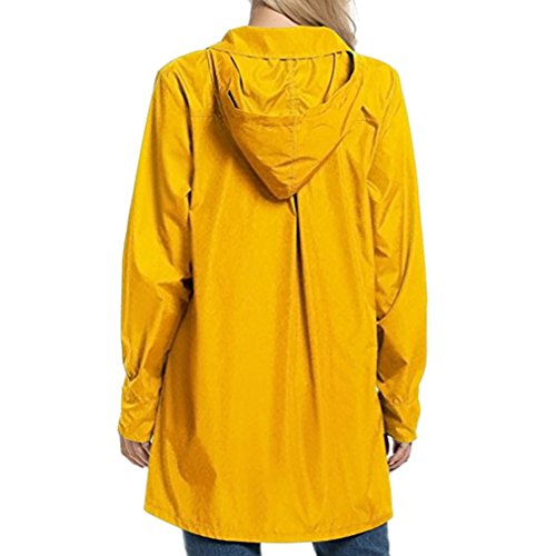 Capispalla Giacche Impermeabile Hooded Giallo Donna Clothing Casual Yying Coat Fashion 01WCxnqP