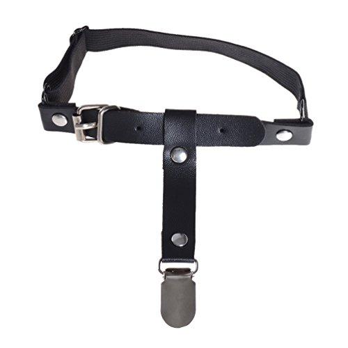 Elastic Leather Pan Head Rivet Leg Garter Thigh-high Belt