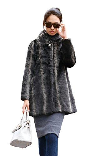 leather dress coat - 4
