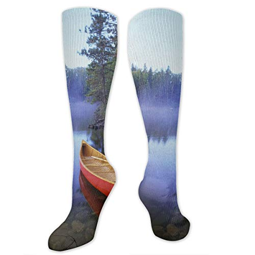 Calm Boat On The Lake Customized Socks For Women And Men,Customized Stockings For Running,Athletic,Travel,Daily Wear ()