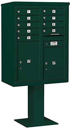 Salsbury Industries 3411d-09grn 4 C Pedestalメールボックス、グリーン B00LT9FXNU