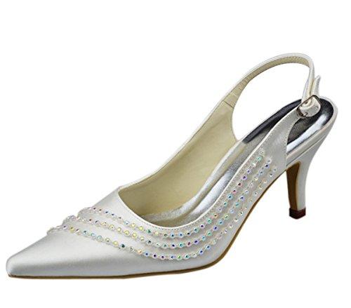 Stiletto Matrimonio Party Con Sparkle D Donna Raso Minitoo Punta Cinturino In A Scarpe 2 Serale Gyayl228 Sposa 5 Pollici Chiusa Tacco wFq6qE7