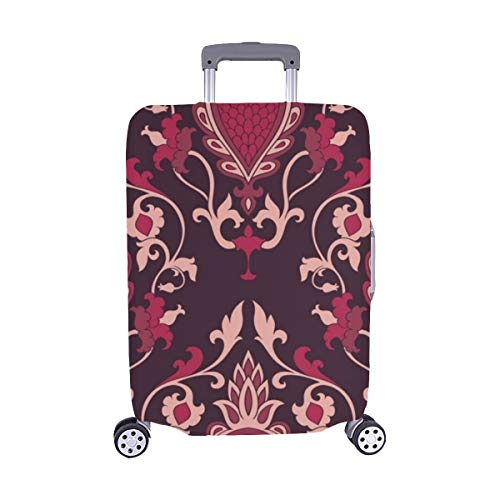Damask Burgundy Filigree Ornament Elegant Spandex Trolley Case Travel Luggage Protector Suitcase Cover 28.5 X 20.5 - Damask Abstract Tapestry