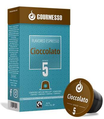 Gourmesso Soffio Cioccolato (Chocolate) - 10 Espresso Capsules Comptaible with Nespresso Machines 100%