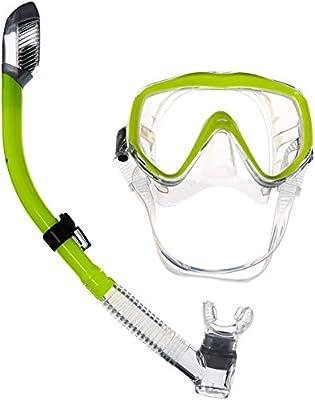 Phantom Aquatics Turtle Single Lens Wide View Mask Snorkel Combo