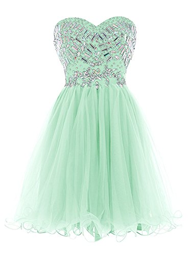 menta trapecio mujer verde para Fanciest Vestido AXqUzOg