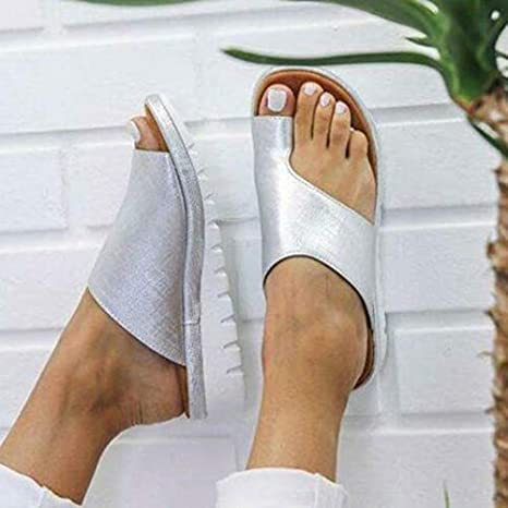 Amazon.com: PeiQila Casual Soft Big Toe Correction Shoes Ladies Sandals pu Leather Shoes Thick Bottom Supports Your Foot with its Shape: Home & Kitchen