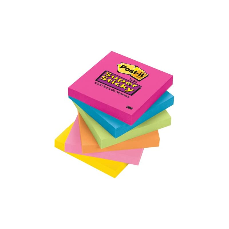Post-it Super Sticky Notes, 3 in x 3 in,