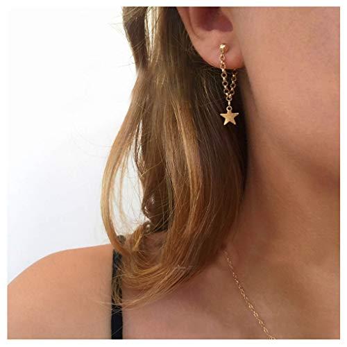 Olbye Star Earrings Gold Star Drop Earrings Charm Earring Jewelry for Women and Girls
