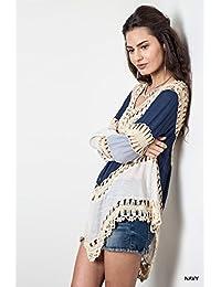 Summer Womens Beach Cover Up Dresses Crochet Bikini Long Sleeve Swimwear Bathing Suit Cover Ups Beach Tunic Top