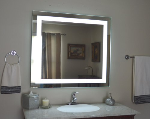 Wall Mounted Lighted Vanity Mirror LED MAM84036 Commercial Grade 40''w x 36''h by Mirrors and Marble