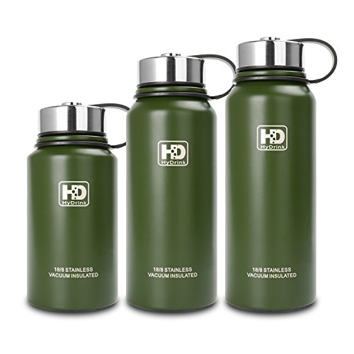 Wide Mouth Vacuum Insulated Stainless Steel Water Bottle With Leak Proof Cap and Built-in Filter | Best Double Walled Travel Coffee Mug(Large & Small) for Outdoor Sports Camping,Keeps Drink Hot & Cold