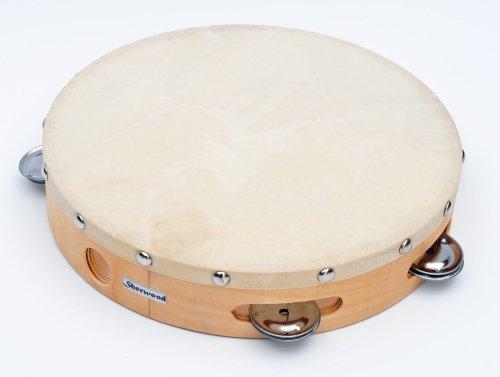 Cherrystone 4260180880564 Holz Tambourin mit Naturfell