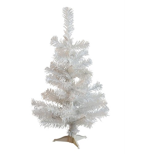 (Harbour Housewares 2ft (60cm) Artificial White Christmas Tree with Stand)