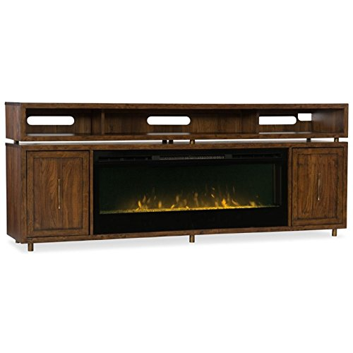 Hooker Furniture Big Sur 84″ Fireplace TV Stand in Walnut Review