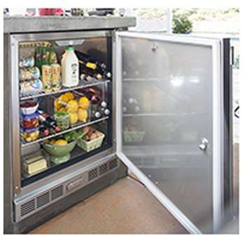Alfresco Single Door Refrigerator (URS-1XE), 28-Inch