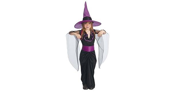 Amakando Traje Infantil hechicera Malvada Disfraz Bruja niños S ...