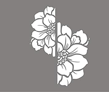 H-M-STUDIO Papel Tapiz De Flores Cocinas Push Vidrio Puerta Corredera Etiqueta Sala De Estar Dormitorio Creativo Pintura De La Pared Balcón Baño Baño Decoración. Un Blanco De 57 * 76Cm: Amazon.es: Bricolaje