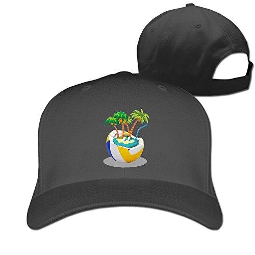 - Nquqiyilu Men Beach Style Cool Golf Black Cap Adjustable Snapback