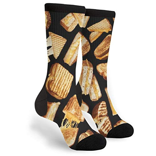 Grilled Cheese Unisex Casual Sports Socks Knee High Athletic Long Tube Stockings
