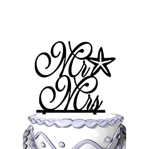 41bVksRsQKL._SS300_ Beach Wedding Cake Toppers & Nautical Cake Toppers