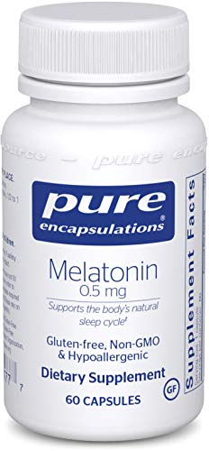 Pure Encapsulations – Melatonin 0.5 mg – Hypoallergenic Supplement Supports the Body's Natural Sleep Cycle* – 60 Capsules Review