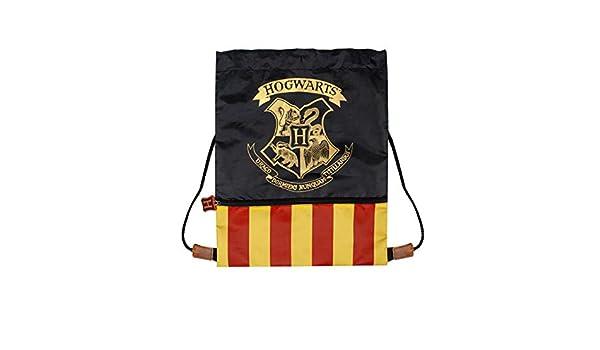 Harry Potter Hogwarts Crest Official Drawstring Bag for Gym School Swimming