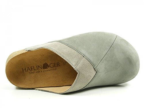 Haflinger 819037 Bio Clog Geraldine Zuecos para mujer Grau