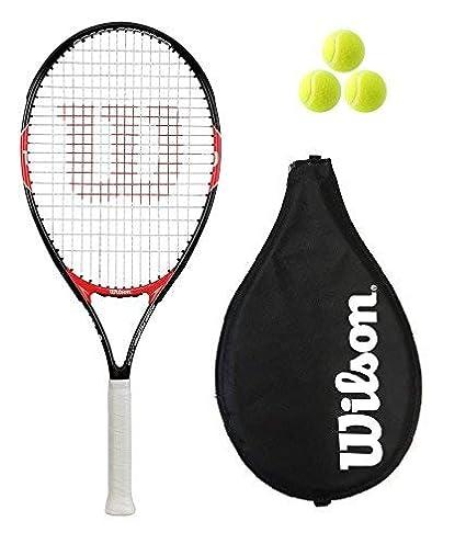 Wilson Federer 26 - Conjunto de tenis (raqueta, funda y 3 pelotas)