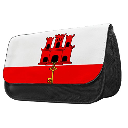 Gibraltar Flagge Bleistift Fall/Make-up Tasche 081 22NBZKPq