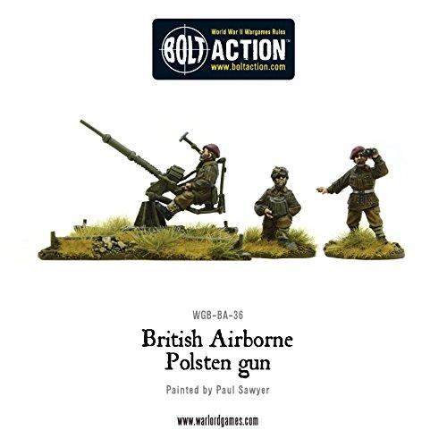 British Airborne Polsten Gun, Bolt Action Minifigures